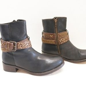 Jasper and Jeera ankle buckle strap boots size 37